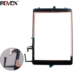 New Original For iPad 5 For iPad Air 1 Touch Screen A1474 A1475 A1476 Digitizer TP IC with Home Button Adhesive Front Glass
