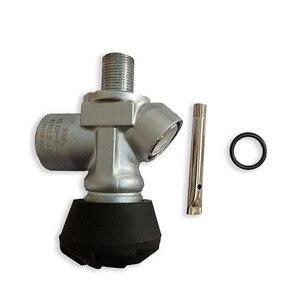 Image 5 - Ac931 acecare 4500psi g5/8 fibra de carbono cilindro válvula rosca m18 * 1.5 para pistola ar/airsoft/rifle airforce condor pcp paintball