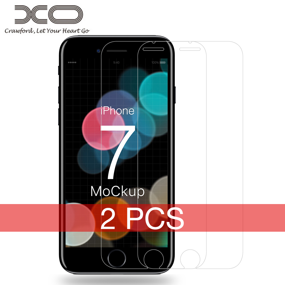 "XO 2PCS Tempered Protective Glass Film On Screen Protector for iPhone 7 7 plus 4.7"" 5.5"" 0.26/0.15mm 9H Hardness Nano-coating"