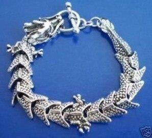 5 шт. потрясающие тибет серебряный дракон мужской 8 '' / 20 см 4.30