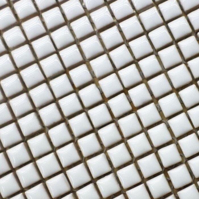 9,5*9,5mm Mini Weiße Farbe Glasierte Keramische Mosaik Fliesen Für  Badezimmer Dusche Fliesen Wohnzimmer Grenze Küche Backsplash Flur In  9,5*9,5mm Mini Weiße ...