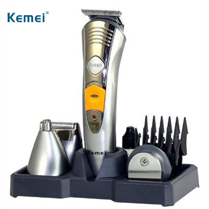 Kemei Men's Electric Shaver 7 In 1 Male Razor Machine Nose Ear Hair Trimmer Electric Clipper Rechargeable Family Haircut Tool kemei 5 in 1 electric hair clipper men s electric trimmer professional hair cutting machine nose haircut shaver razor remover