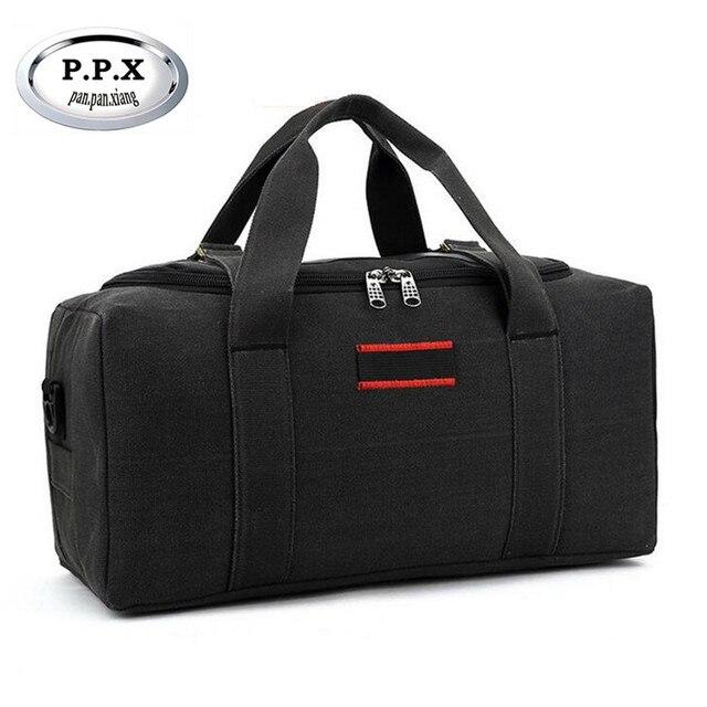 P.P.X Мода марка Мужская Дорожные Сумки Большой Емкости 36-55L Женщины Камера Мешки Duffle Холст Складной Мешок Для Поездки Водонепроницаемый D38