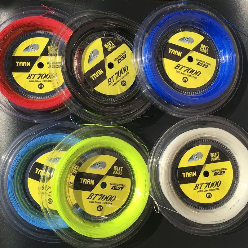 30LBS livraison gratuite 1 bobine TAAN BT7000 bobine de Badminton 200 M 0.68 MM corde de raquette de badminton Durable30LBS livraison gratuite 1 bobine TAAN BT7000 bobine de Badminton 200 M 0.68 MM corde de raquette de badminton Durable