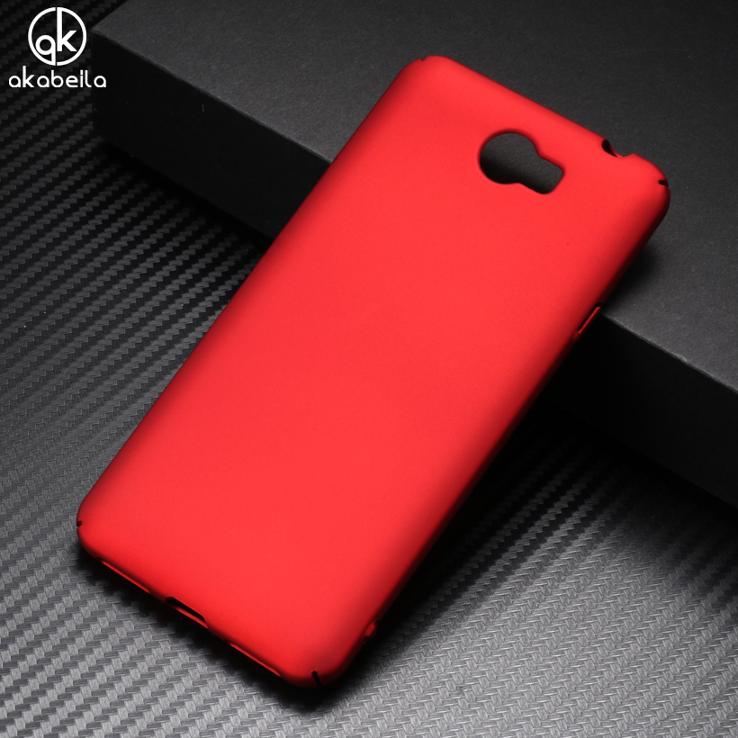 AKABEILA Luxury Hard PC Cases For Huawei Y5II Y5 II Case Mate Back Cover Y6 ii Compact 5.0 Case Capa Fundas Coque Housing Shield