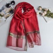 Autumn Luxury Brand Summer Women Scarf Fashion Soft Silk Scarves Female Shawl Foulard Large Beach Cover-up Wrap Decor