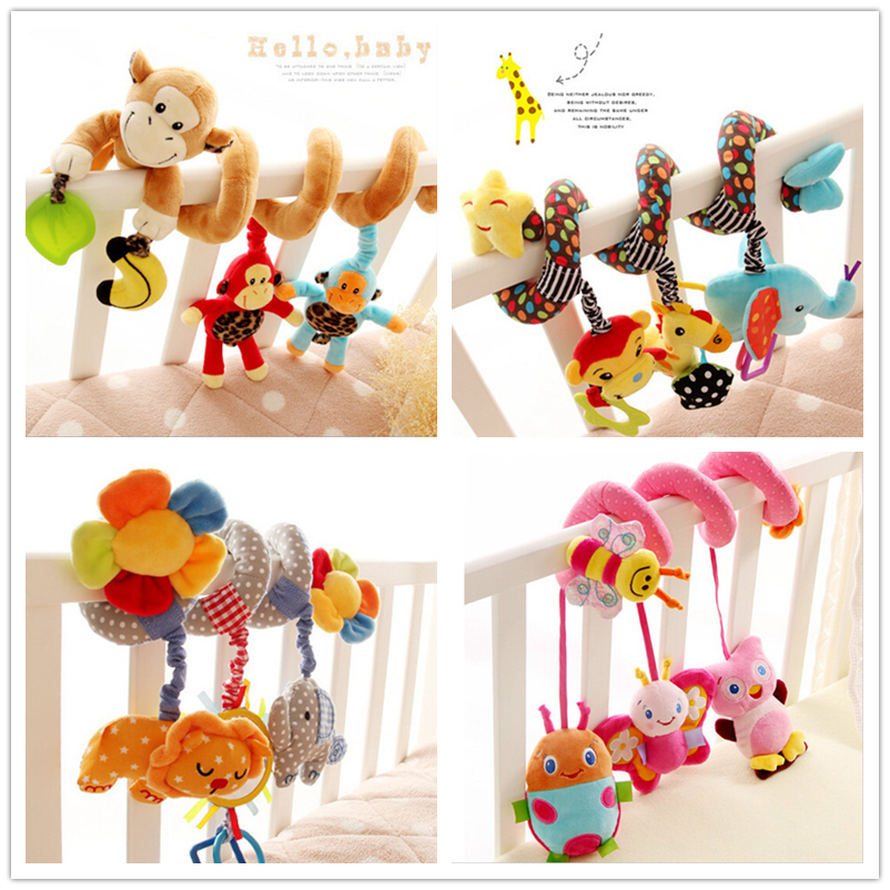 NPKCOLLECTION Rattle Baby Bed Bell Toys for 0-12 Months