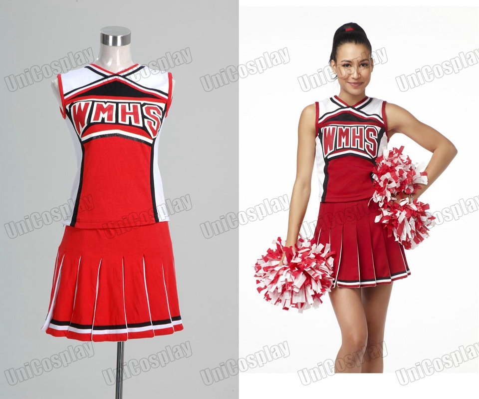 Glee Santana Lopez Cheering Squad Dress Costume Halloween Costume Christmas Party Dresses
