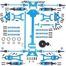 1 Set Completo di Parti di Aggiornamento Kit Per 1/18 WLtoys A959 B A969 B A979 B K929 B Elettrico RC Auto Off Road Buggy Metallo di ricambio