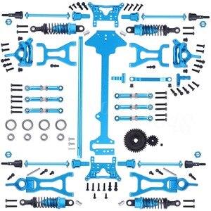 Image 1 - WLtoys juego completo de piezas de mejora para coche eléctrico de control remoto, Buggy todoterreno, repuesto de Metal, A959 B, A969 B, A979 B, 1/18