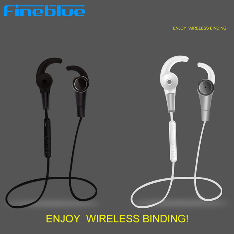 Original Fineblue F6 Stereo Earphone Headphone With Mic For iphone Samsung LG Wireless Sport Outdoor Bluetooth 4.0 Headset wireless bluetooth earphone fineblue f sx2 calls remind vibration headset with car charger for iphone samsung handfree call