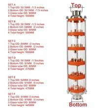 304ステンレス鋼/銅バブル蒸留塔と5セクション蒸留。ガラスカラム