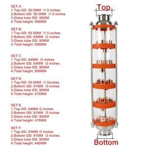 Image 1 - Colonne de Distillation à bulles dacier inoxydable/cuivre 304 avec 5 sections pour la distillation. Colonne de verre