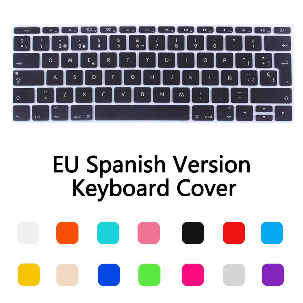 Japanese Version Keyboard Cover in Laptop Keyboard Covers forMac Book Air13 15Pro Retina Inch Laptop Keyboard Covers Case,E