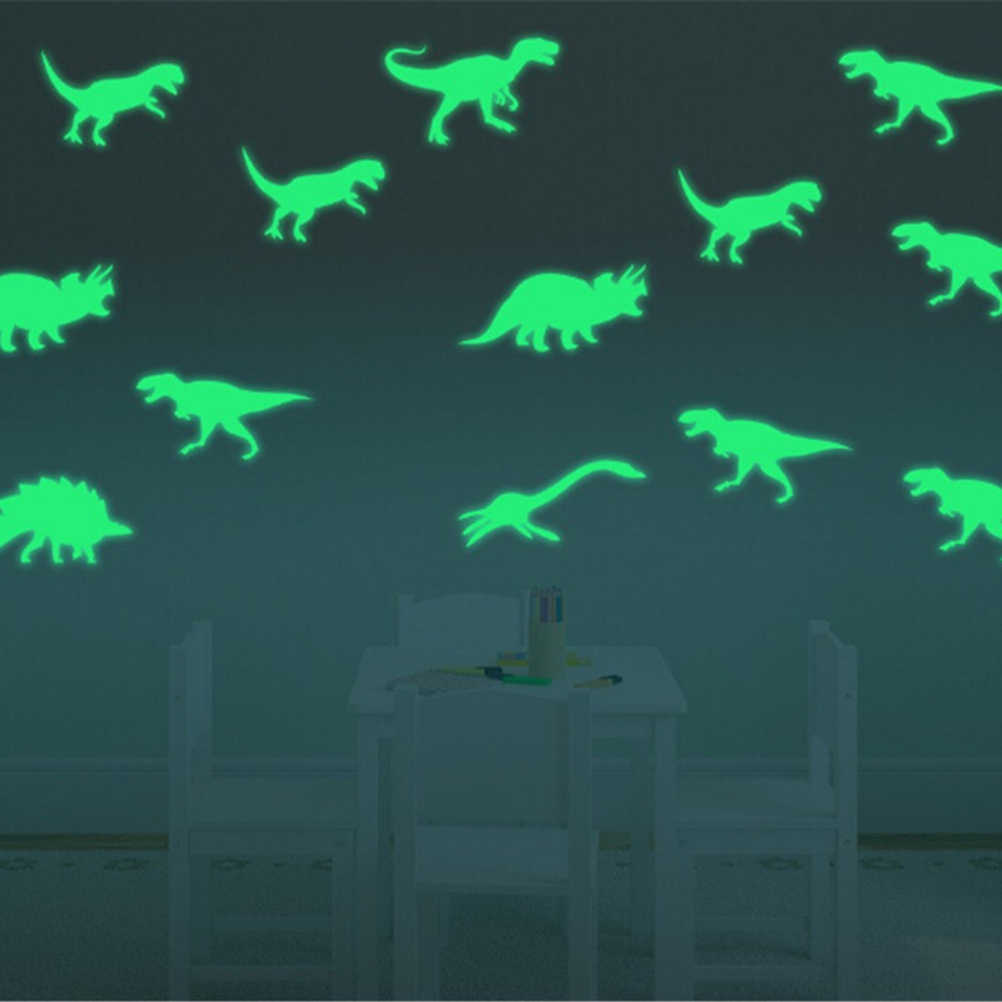9Pcs Glow In The Dark Dinosaurussen Speelgoed Stickers Plafond Decal Baby Kid Kamer