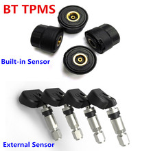 TPMS Car Tire Tyre Pressure Monitoring System Alarm External Built-in Sensor Bluetooth 4.0 For iPhone Android Mobile Phone APP