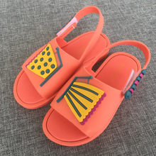 2017 children's shoes girl sandals young cartoon cat slippery jelly candy smell princess sandals