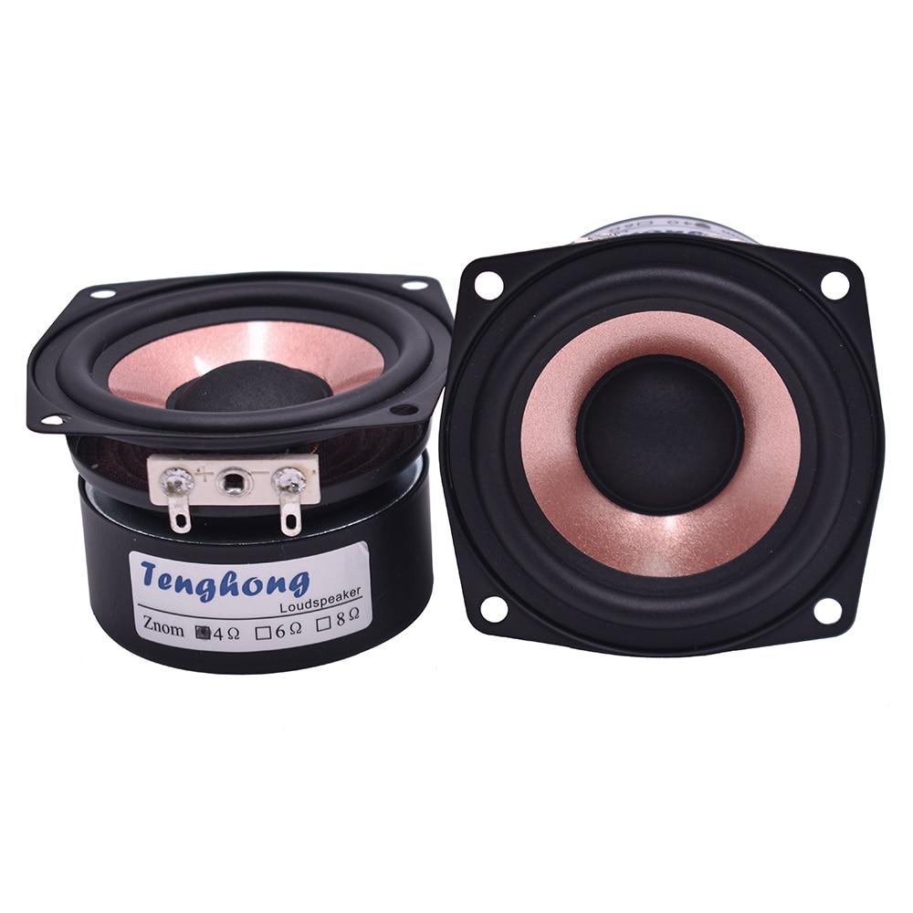 Image 3 - Tenghong 2pcs 2.5 Inch HIFI Audio Speaker 4/8Ohm 8 15W Full Range Desktop High Sensitivity Bass Midrange Treble Loudspeaker DIYBookshelf Speakers   -