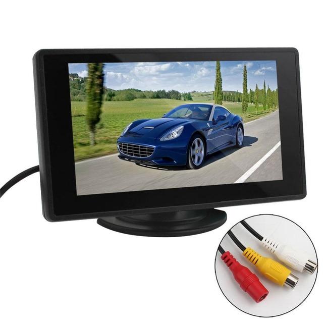 1 Conjunto de 4.3 Polegada Display LCD Tft Retrovisor Do Carro Câmeras Invertendo Monitor de 480x272