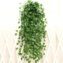 1pc 5-Style Artificial Decoration Vine Plant 9-Bifurcation Fake Hanging Leaves Decor Home Garden Wedding Party Wall