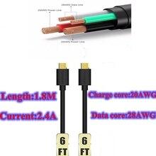 2 шт. tronsmart кабель micro usb 3a 1.8 m 20awg 28awg для samsung galaxy s6 s7 huawei mate 8 meizu xiaomi lg htc зарядное устройство кабель длиной