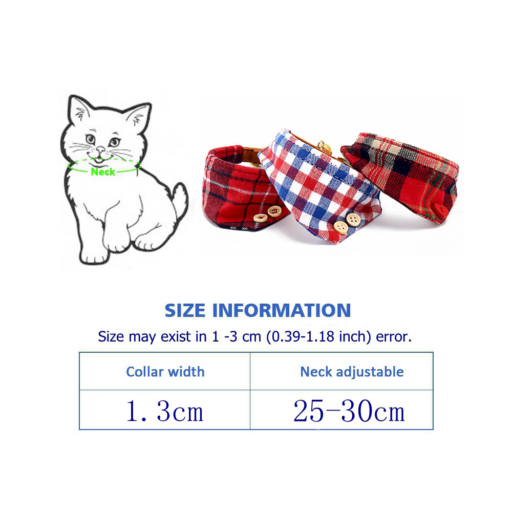 Cat Collar With Bell Dog Collar For Cats Solid Braid Kittens Pet Cat Collars Shiny Adjustable Collars For Cats Pet Lead Supplies (5)
