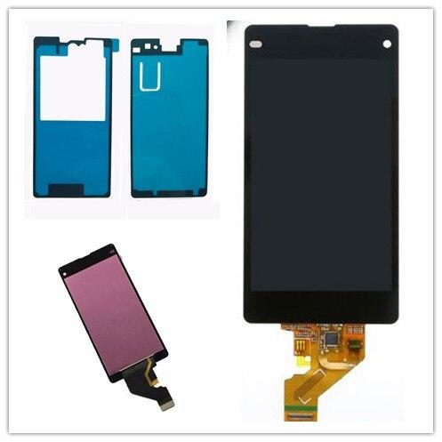 Exibição Para SONY Xperia Z1 compact LCD Digitador Da Tela de Toque Para SONY Xperia Z1mini D5502 D5503 M51W LCD Display Touch