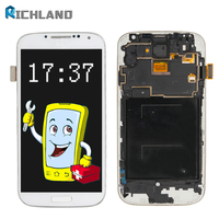 For Samsung S4 I337 I9505 I9500 I545 M919 E300S LCD Display Touch Screen Digitizer With Frame