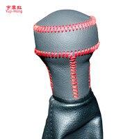 Yuji-Hong Biegów Samochodu Obejmuje Sprawy dla Peugeot 207 307 308 408 KIA Cerato Ręcznym Obroże Shift Prawdziwej Skóry Ręcznie szyte Pokrywa