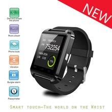 Bluetooth Smartwatch U Uhr U8 Freisprechen/Mediensteuerung/Aktivität Tracker für Android/iOS Smartphones, schwarz Farbe