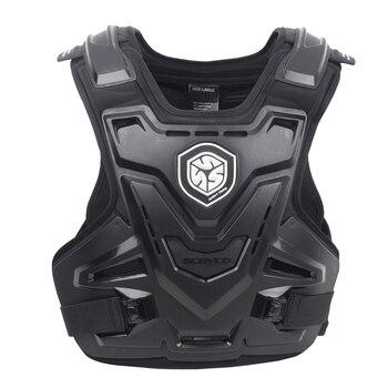 SCOYCO Motorcycles Motocross Chest Back Protector Armadura Vest Racing Protective Body Guard MX Armor Black A-07 2