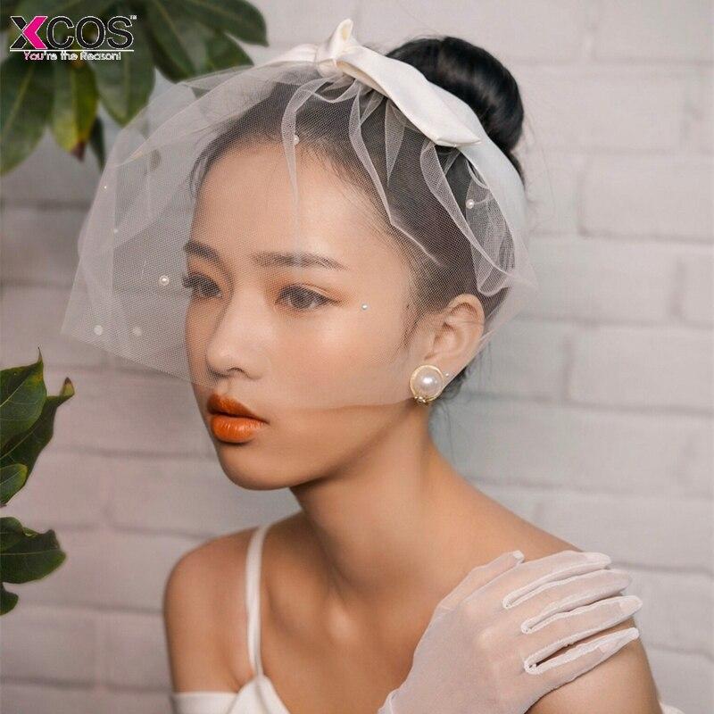 935232e4 New 2018 Vintage Tulle Pearls Bridal Hats Hair Face Veil Hair-Fascinators  Headpiece Party Birdcage