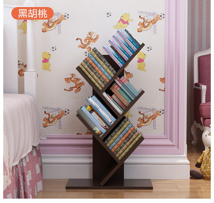 77cm eco friendly five layers creative tree style shelves portable bookcases bedroom bookshelf. Black Bedroom Furniture Sets. Home Design Ideas