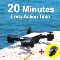 SMRC S20 Drone With HD 1080P 4K Camera Quadrocopter Hovering FPV Quadcopters 5MP Folding RC Helicopter Storage bag toy for boy