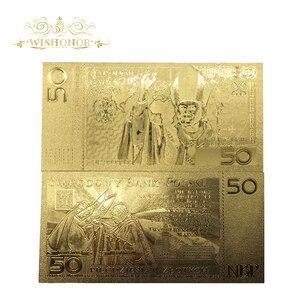 Wishonor 10 шт./лот красивые польские банкноты 50 банкнот PLN золотые банкноты в 24k позолоченные бумажные реплики для сбора денег