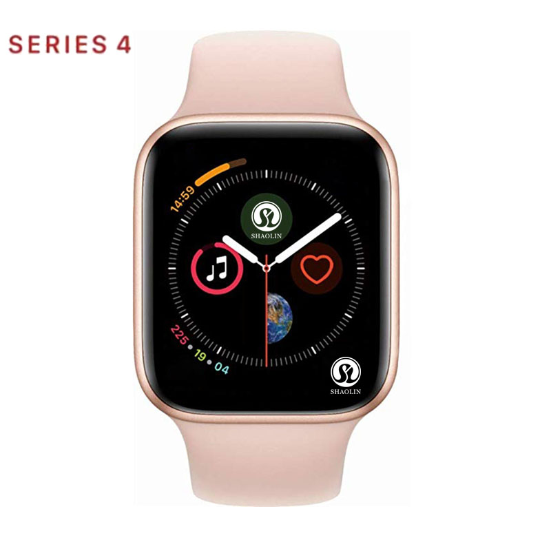 Rose Gold Smart Watch Series 4 Smartwatch For Apple Iphone 6 6s 7 8