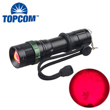 Астрономия/Авиация/ночное видение 625NM мощные аккумуляторные аварийные красный светодиодный фонарик