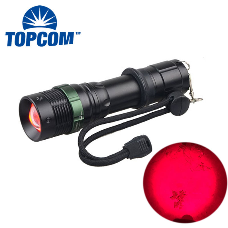 Astronomy / Aviation / Night Vision 625NM Powerful Rechargeable Emergency Red LED Light Flashlight touch led rgb controller rf wireless remote control rgb ct dim dc12 24v led controller dimmer for led strip light tape