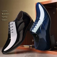 Sycatree Top Italian Design Formal Mens Luxury Pointed toe Dress Shoes Business Wedding Shoes Office for Male Large size 38 48