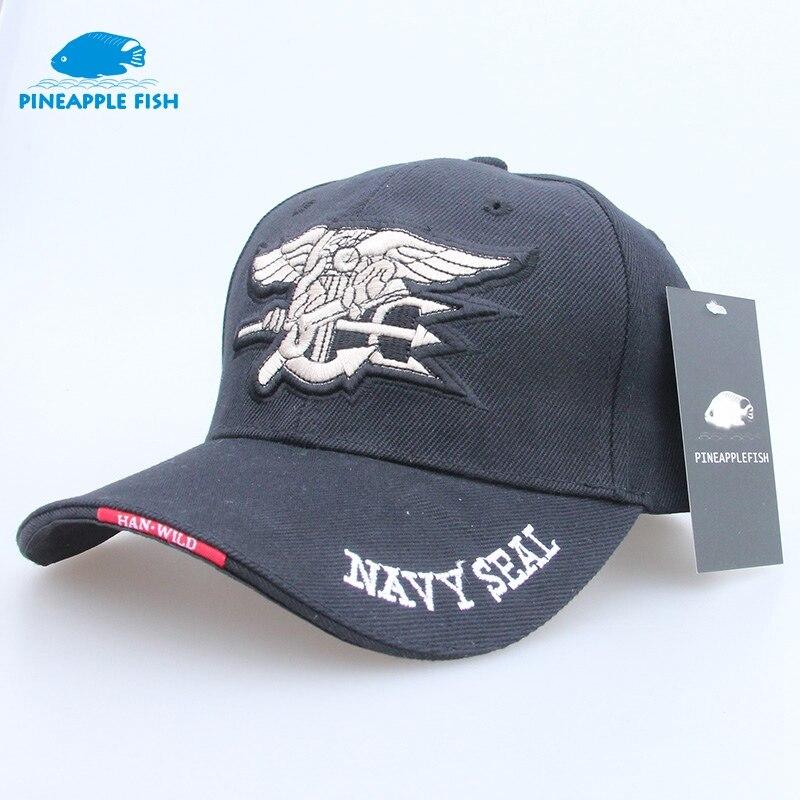 262433533f0 Pineapplefish High Quality Mens US NAVY Baseball Cap Navy Seals Cap  Tactical Army Cap Trucker Gorras Snapback Hat For Adult