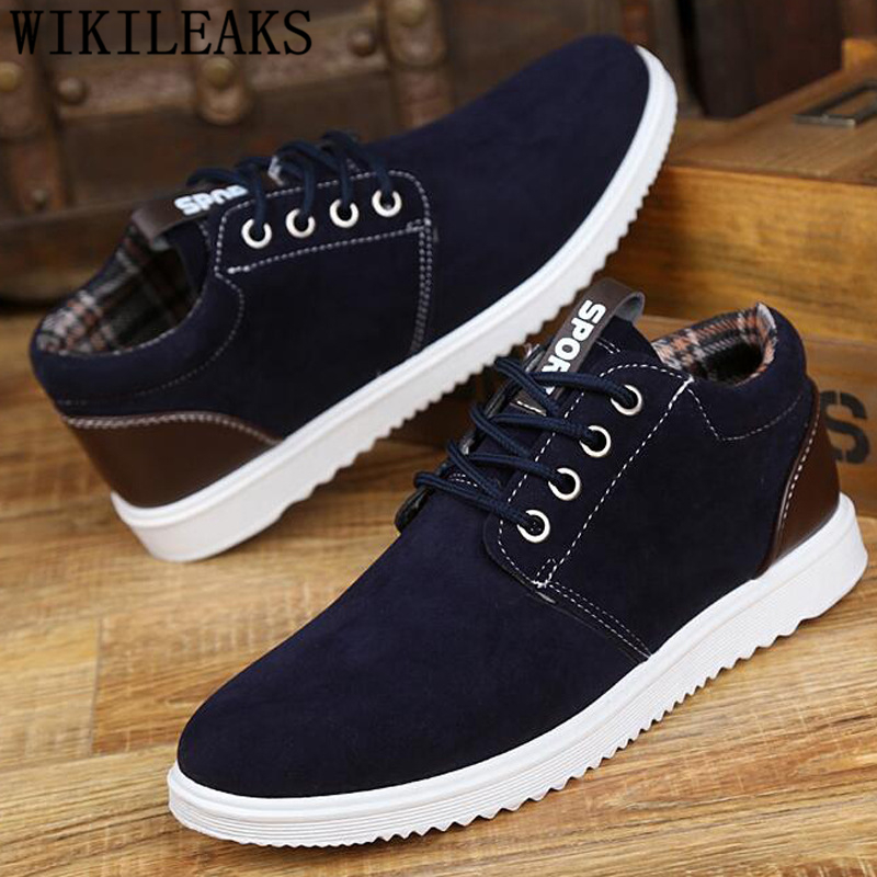 Suede Shoes Men Winter Boots Men Designer Shoes Ankle Boots Men Fashion Shoes 2019 Short Plush Zapatos Casuales Hombres En Cuero