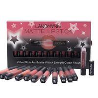 12pcs/lot Make up Matte Lipstick Waterproof Long lasting Velvet Lipstick Set Red Tint Nude Makeup Set Dropship