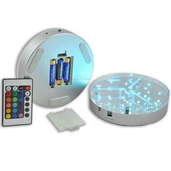 40pcs/lot 6inch Under Vase LED Light Base Coaster Lighting For Wedding Party Events Home Decoration