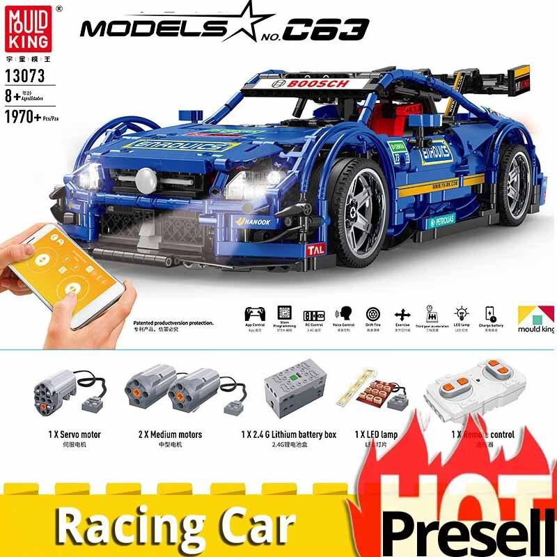 Nouveau Technic 13073 télécommande électrique legoings MOC moteur course voiture set blocs de construction jouets éducatifs garçons cadeau de noël