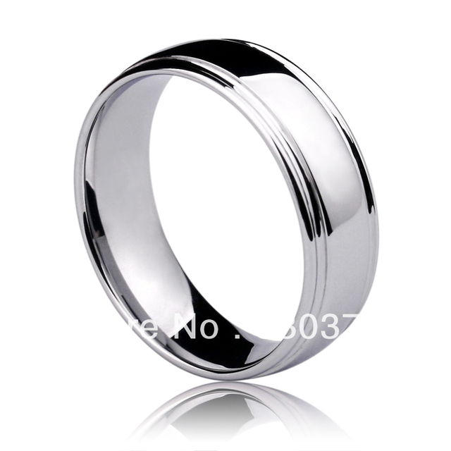 Free Shipping Customize Tungsten Jewelry Wedding Bands For Man New White Glossy Men Slotted Ring Tail