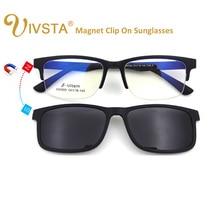 IVSTA High Quality ULTEM Clip On Sunglasses Men Polarized Lenses Magnetic Clips