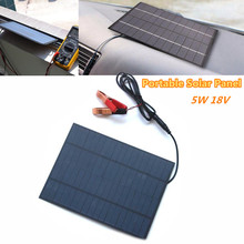 5W 18V Solar Panel Portable Power Bank Board External Battery Charging Solar Cell Board DIY Clips Outdoor Travelling