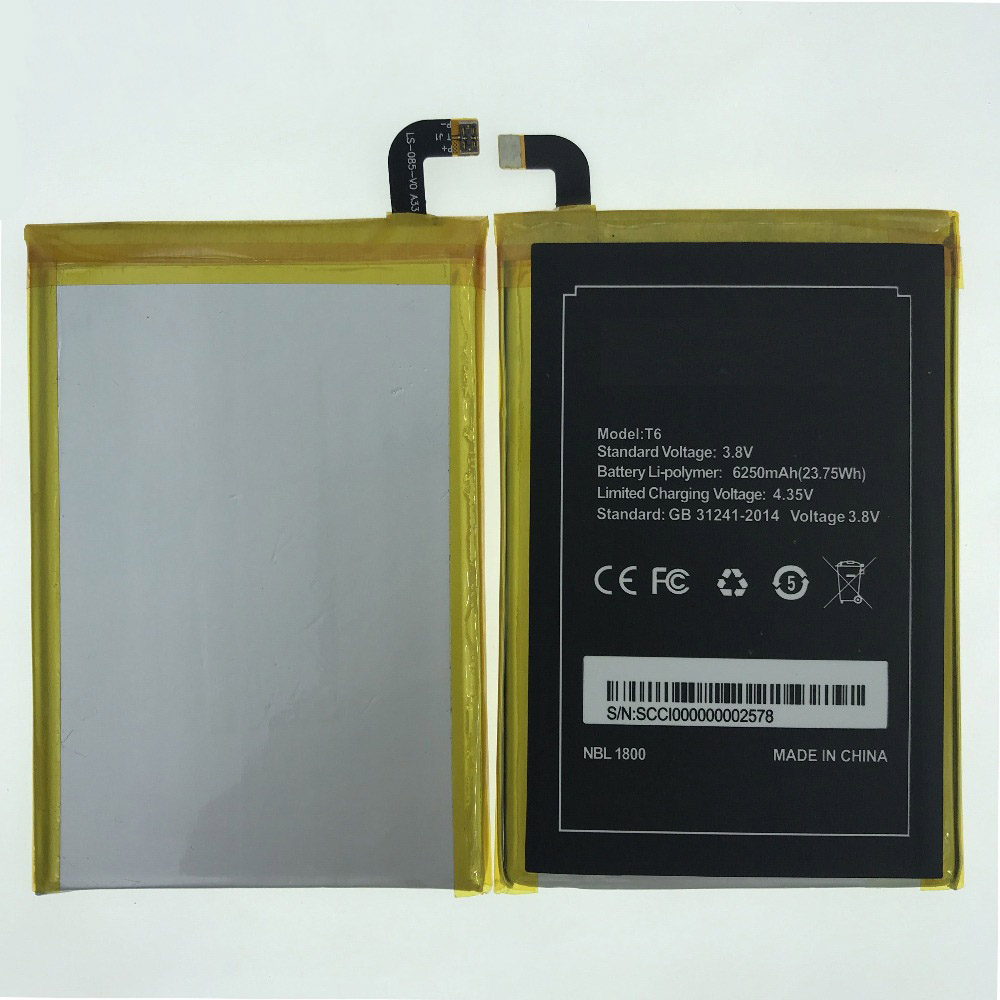 In Stock High Quality 6250mAh <font><b>Battery</b></font> For Homtom HT6 <font><b>DOOGEE</b></font> <font><b>T6</b></font> <font><b>T6</b></font> pro Mobile Phone Replacement + Tracking Number image