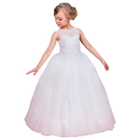 long ball gown dresses for little girls beaded fancy girls dress vestido primera de daminha white flower girls dresses 2018