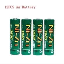 Новое качество 12 шт NiZn Ni-Zn 1,6 V AA 2500mWh аккумуляторная батарея
